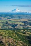 South side of snowy Mount Adams seen from Oregon. Snow-covered Mount Adams seen from Oregon Stock Image