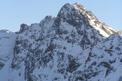 Snow covered mount. It is High Tatra Mountains on winter Royalty Free Stock Photos