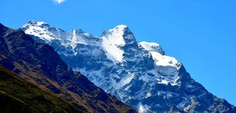 Snow Covered Mountain Royalty Free Stock Photography