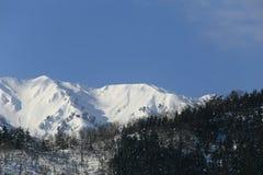 Snow covered mountain. In Takayama japan Stock Image