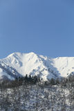 Snow covered mountain. In Takayama japan Royalty Free Stock Photography