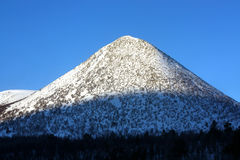 Snow covered mountain stock photo