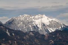 Snow-covered mountain Stock Photo
