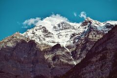 Snow Covered Mountain during Daytime Royalty Free Stock Image