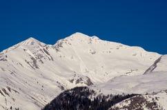 Snow-covered mountain Stock Photos
