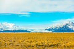 Snow covered mountain Iceland winter season . Royalty Free Stock Image