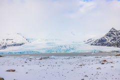 Snow covered mountain Iceland winter season . Royalty Free Stock Photo
