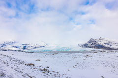 Snow covered mountain Iceland winter season . Stock Photography