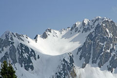 Snow covered mountain in the Italian Alps Stock Photography