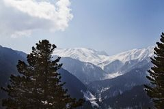 Snow covered mountain, Kashmir, Jammu And Kashmir, India Stock Photos