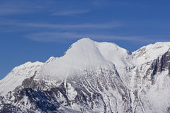 Snow covered mountain Krn Royalty Free Stock Photo