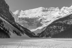 Snow Covered Mountain Lake Stock Photography