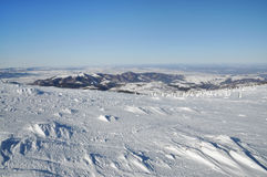 Snow covered mountain landscape Royalty Free Stock Photo