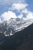 Snow covered mountain in Pahalgam Valley, Kashmir Royalty Free Stock Photo