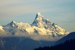 Snow Covered Mountain Peak  Royalty Free Stock Photography