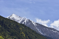 The snow-covered mountain peak. Royalty Free Stock Photography