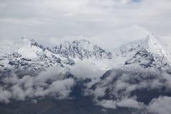 Snow covered mountain peak in the Cordillera Blanca, Peru Stock Images