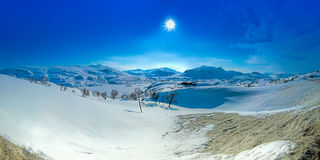 Snow covered mountain Stock Images
