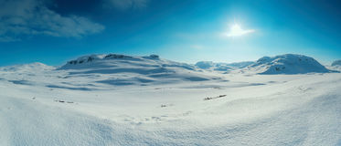 Snow covered mountain Stock Image