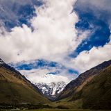 Snow covered mountain Peru Royalty Free Stock Image