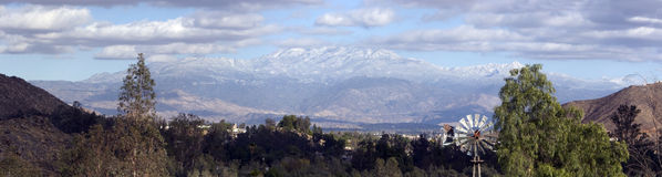 Snow Covered Mountain Range Royalty Free Stock Image