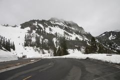 Snowy Northwest Mountain. A snow-covered mountain in a range in the American Northwest Royalty Free Stock Photography