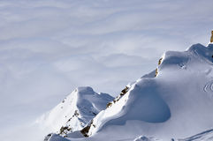 Snow covered mountain ridge, Austrian Alps Royalty Free Stock Photography