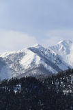 Snow covered mountain in Takayama japan with blue sky. Snow covered mountain in Takayama japan Royalty Free Stock Image