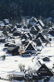 Snow covered mountain in Takayama japan with blue sky Royalty Free Stock Image
