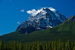 Snow covered mountain top Stock Image