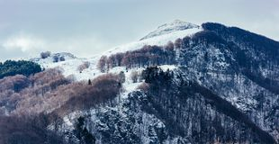Snow covered mountain top Stock Photo