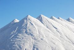 Snow Covered Mountain Under Blue Sky at Daytime Stock Photography