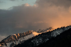 Snow-covered mountain Royalty Free Stock Photo