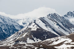 Snow covered mountains Stock Photography