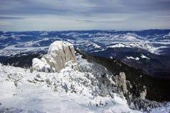 Snow covered mountains Stock Photos