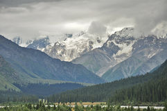 Snow covered mountains Royalty Free Stock Image