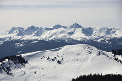 Snow covered mountains. Stock Photography
