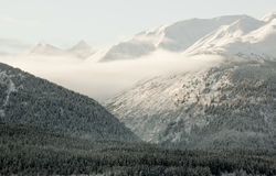 Snow-covered mountains of Alaska. Royalty Free Stock Photography