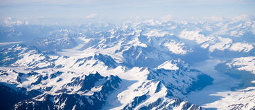 Snow Covered Mountains. In Alaska Royalty Free Stock Photo