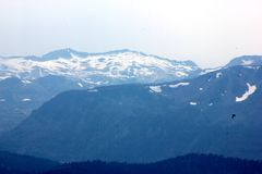 Snow covered mountains around Lake Tahoe, California, USA Royalty Free Stock Images