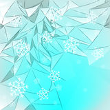 Snow covered mountains card vector Stock Photo
