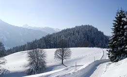 Snow covered mountains, Dachstein, Austria Stock Images
