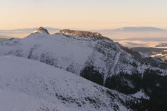 Snow covered mountains. It is High Tatra Mountains on winter Royalty Free Stock Image