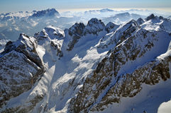 Snow covered mountains in the Italian Dolomites Royalty Free Stock Photography