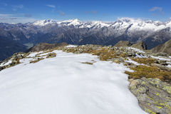 Snow covered mountains, Italy Royalty Free Stock Image