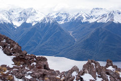 Snow covered mountains at Kepler Track Royalty Free Stock Image