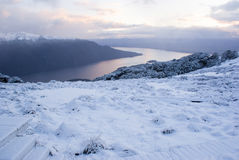 Snow covered mountains at Kepler Track Royalty Free Stock Photo