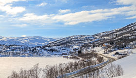 Snow-covered mountains of Norway Royalty Free Stock Photo