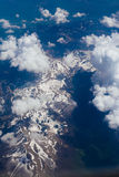 Snow-covered mountains of the plane. In Montenegro Stock Image