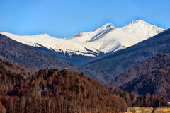 Snow covered mountains and rock Royalty Free Stock Photography